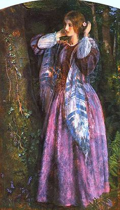 """Arthur Hughes, """"Amy"""", study for """"The Long Engagement"""""""