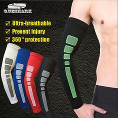 1Pc Antiskid Silicone Riding Cycling Arm Warmers Basketball Elbow Pads Sport Armband Men Women Anti-UV Cuff Running Arm Sleeves