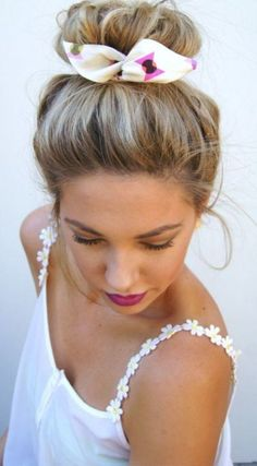Need this floral wrap bun in my life!