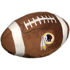 NFL Plush Football Pillow, Washington Redskins