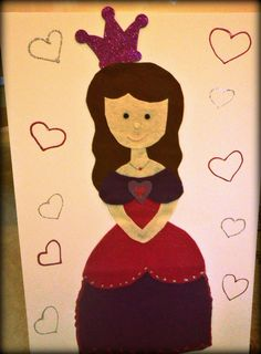 Pin the Crown on the Princess (Party Game) Kids Birthday Themes, 3rd Birthday Parties, 4th Birthday, Birthday Celebration, Princess Party Games, Princess Crafts, Cute Crafts, Kids Crafts, Kid Parties