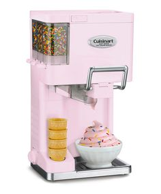 Pink Soft-Serve Ice Cream Maker - Lilia wants this!