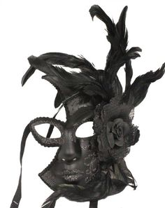 Amazon.com: RedSkyTrader - Victorian Gothic Venetian Masquerade Mask with Feathers: Clothing