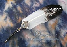 ORCA Killer Whale Totem Feather Quill BALLPOINT Pen.
