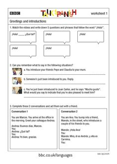 Worksheets Spanish Greetings And Goodbyes Worksheets do tornadoes really twist task cards spanish greetings bbc languages talk and introductions worksheet