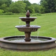 Beaufort Fountain from Marquis Gardens is the quintessence of classic fountain design. Water bubbles out of the traditional pineapple finial, flowing over two tiers into the pool below.