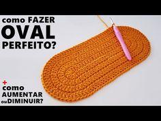 Como fazer tapete OVAL PERFEITO em crochê + dicas para AUMENTAR ou DIMINUIR um TAPETE OVAL - YouTube Crochet Purse Patterns, Crochet Basket Pattern, Crochet Purses, Crochet Doilies, Crochet Stitches, Crochet Hooks, Knit Crochet, Crochet Table Mat, Crochet Hooded Scarf