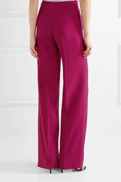 Fuchsia stretch-crepe Zip fastening along side 50% viscose, 47% acetate, 3% elastane Designer color: Orchid  Dry clean Imported