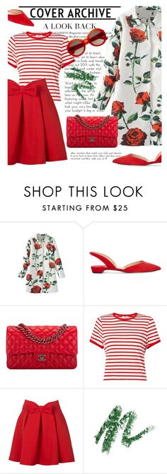 """""""Red Roses"""" by cilita-d ❤ liked on Polyvore featuring WithChic, Chanel, Miss Selfridge, Paul Andrew and Linda Farrow"""