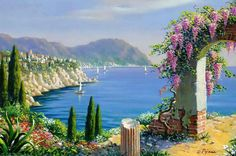 Artist Bob Pejman's Selected Works since Pejman's works span from Classical Realism and Romantic Realism to his current looser style Classical oils Beautiful Paintings, Beautiful Images, Landscape Art, Landscape Paintings, Mediterranean Paintings, Mediterranean Sea, Classical Realism, Pictures To Paint, Santorini
