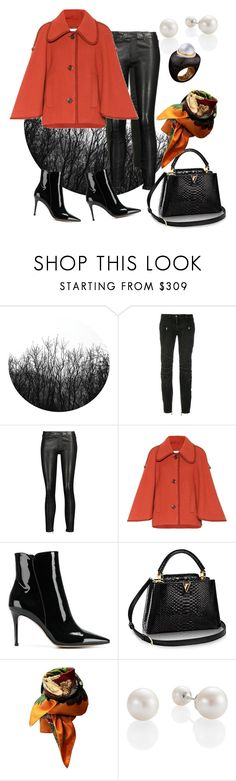 """Untitled #496"" by rita-singer ❤ liked on Polyvore featuring Balmain, J Brand, Chloé, Gianvito Rossi, Hermès and Alexandra Mor"