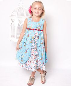 Take a look at this Aqua Hey Sailor Hanna Dress - Infant, Toddler & Girls by Jelly the Pug on #zulily today!
