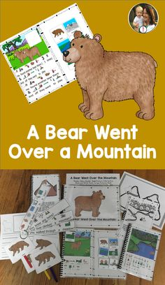 A Bear Went Over the Mountain Speech Language Pathology, Speech And Language, Circle Time Songs, Conversation Cards, Fun Songs, English Language Learners, Preschool Lessons, I Love Books, Writing Prompts