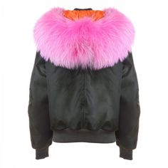 New York Fur-Hood Bomber ❤ liked on Polyvore featuring fur
