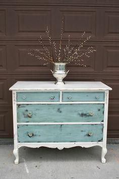 blau und weiß tisch