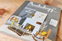 Anthology magazine cover - artwork by Chloé Fleury