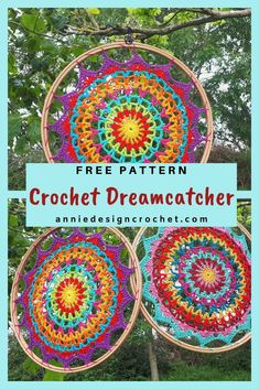 crochet mandala pattern Crochet Mandalas are very popular! This easy Free Crochet Pattern is my version of this lovely art form, which can be used as a table doily/mat, or turne Crochet Dreamcatcher Pattern Free, Crochet Feather, Crochet Mandala Pattern, Crochet Circles, Doily Patterns, Easy Crochet Patterns, Crochet Designs, Crochet Yarn, Free Crochet