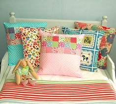kids pillows by Holland Fabric House, via Flickr