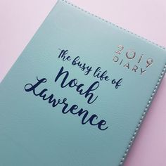 Your place to buy and sell all things handmade Personalised Diary, Busy Life, One Color, Texts, My Etsy Shop, Notes, Messages, Journals, Dairy