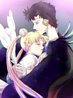 Sailor Moon and Seiya