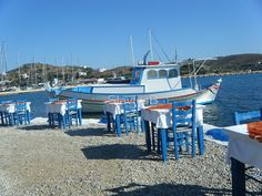 Lipsi Greek Island Sea Side Restaurant