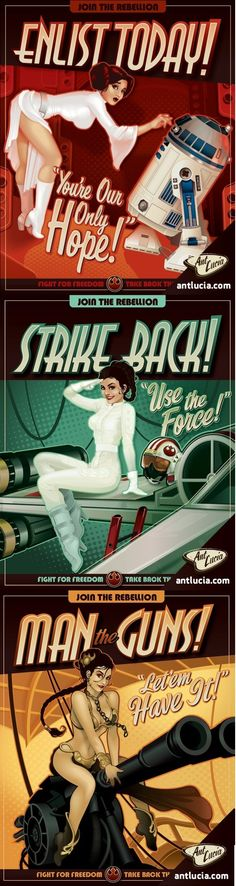 Star Wars Propaganda Pin-Ups by Ant Lucia.