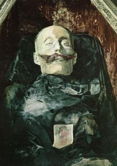 Corpse in the Capuchin Catacombs, Palermo, Sicily - i really loved walking around that place and being told stories by my family there!