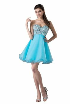 Light Blue Short Prom Dresses | SP0044 Cheap Sequin Light Blue ...