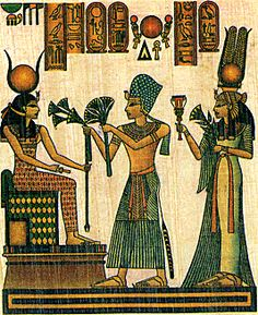 Ramses & Nefertari Offering to Isis