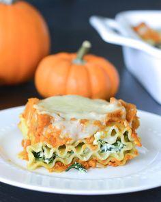 Pumpkin and Spinach Lasagna Rolls