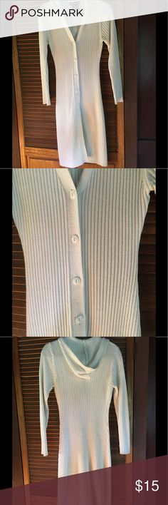 No Boundaries Sweater Long ribbed sweater; excellent condition; tag says JL. No Boundaries Sweaters