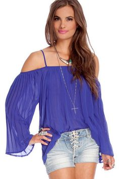 Overpleated Top $48 at www.tobi.com