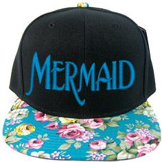 Mermaid Snapback Hat ($19) ❤ liked on Polyvore featuring accessories, hats, cap, disney, hair accessories, snapback cap, snapback hats, cap snapback, acrylic hat and snap back caps