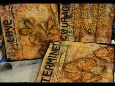 Watch as Shawn creates a mixed media triptych. Lots of layers, colors and donna downey signature stencils.