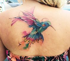 Image result for bird watercolor tattoo
