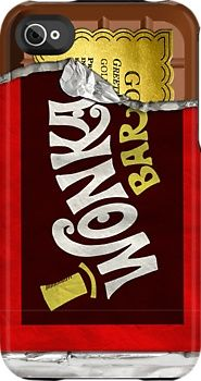 Wonka bar phone case hope to get the golden ticket !! :) cute !