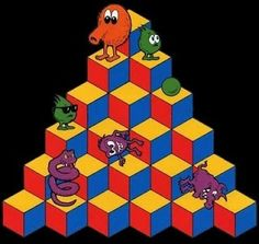 Qbert - ahahaha Dad was all about the Mario Bros. and mom needed her Qbert lol Vintage Video Games, Classic Video Games, Retro Video Games, Video Game Art, Retro Vintage, Vintage Toys, Childhood Toys, Childhood Memories, Old Video