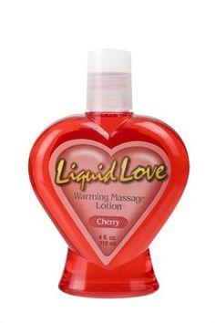 LIQUID LOVE 4 oz. WARMING MASSAGE LOTION-CHERRY Sex Lube Massage Oil Lubricant  #Pipedream