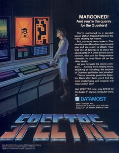 """thedoteaters: """" Beware the Questers, aka the Recognizers from #Tron (1983). #retrogaming #bitstory """" Spectre (Apple II) — http://www.megalextoria.com/wordpress/index.php/category/computer-arcana/apple/"""