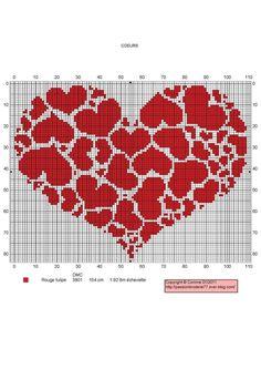 cuore a punto croce schemi - Cerca con Google