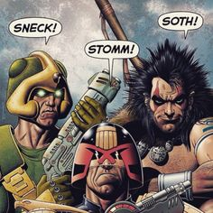 You Said It Boys!They're jumping on board with 2000 AD - have you picked up your copy of Prog 1924 yet? It's the IDEAL issue for new and lapsed readers with FIVE new stories, inc. Judge Dredd, Slaine and Strontium Dog, and some recent favourites return, too! Created by some of the biggest talents, now & future, not just in the UK, but in world comics, inc.: Pat Mills, John Wagner, Carlos Ezquerra, Dan Abnett, Henry Flint & Karl RichardsonWith this colossal cover, especially illustrated by…