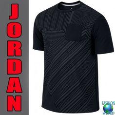 698b4eac02c4 NWT Nike Air Jordan Retro XI Pocket Tee Shirt Black SIZE MEDIUM 632300 010
