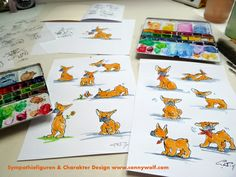 """""""Character Design"""" ein neues Wesen entsteht. Mehr darüber auf meinem Blog ... Karl Valentin, Wolf, Art Work, Playing Cards, Cartoon, Character, Nice Asses, Artwork, Work Of Art"""