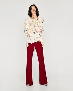 ZARA - WOMAN - SWEATER WITH PAINTED BRUSH STROKES