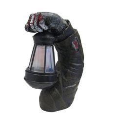 Outdoor Halloween Pathway Spooky Zombie Arm with Solar Powered Lantern Light #ReusableRevolution