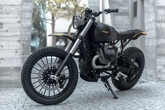 Miami-based Moto Studio created this stunning urban scrambler on Moto Guzzi's platform. Named Braapster, the build is minimal but mean, with all kinds of performance upgrades tucked into that spartan look. The minimalist masterpiece features a Moto Guzzi, Guzzi V9, Scrambler Custom, Scrambler Motorcycle, Motorcycle Style, Bmw Motorcycles, Bobber, V9 Roamer, Honda Cb750