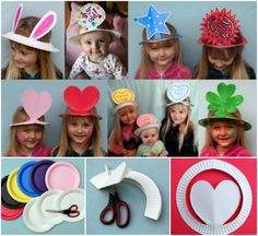 Paper plate hat crafts for all occasions!