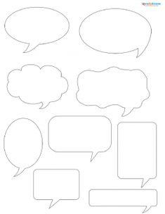 Talk Bubble Sbook Patterns Templates Talking Printable Free