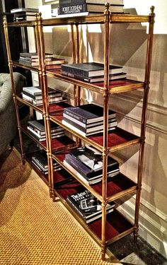 Love this Ralph Lauren (at EJ Victor) Edwardian Brass Etagere - a timeless classic. 116 S Lindsay Street Love Bookshelf, Bookshelves, Bookcase Styling, Find Furniture, Timeless Classic, Elle Decor, Traditional House, Interior Design, Interior Ideas