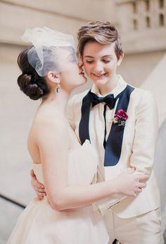 adorable lesbian wedding